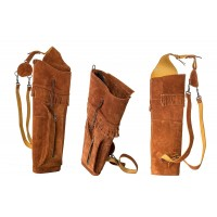 BUCK TRAIL carquois dorsal INDIAN BROWN SUEDE 52cm