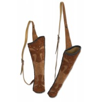 BUCK TRAIL carquois dorsal BRONCO CUIR SUEDE 53cm