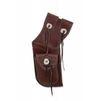 BUCK TRAIL carquois holster  ANTIQUE CUIR MARRON AVEC POCHETTE  FRONTALE  40cm