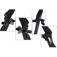 AVALON V-BAR TEC X DUO - ADJUSTABLE V-BAR MOUNT 5/16 NOIR